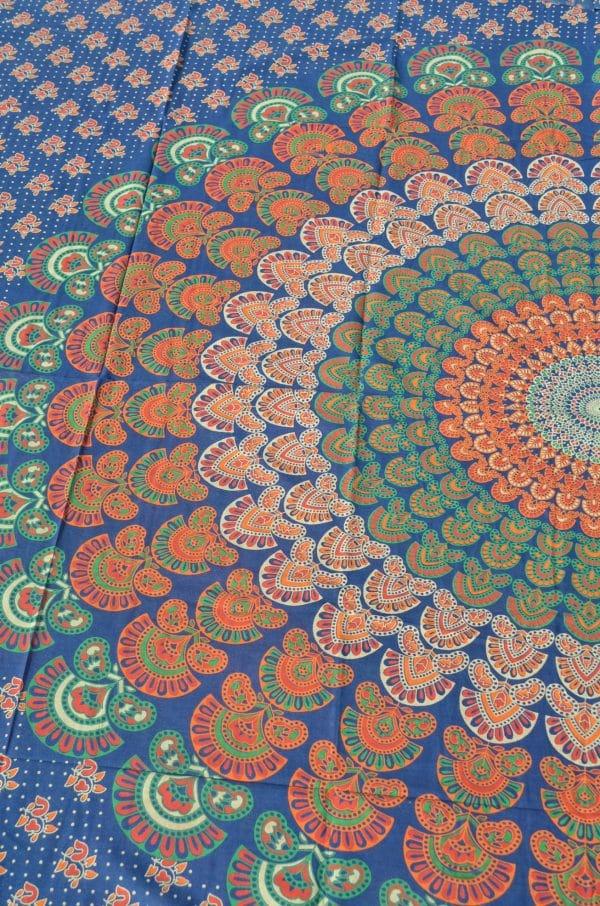 mandala-wand-tuch-blau-orange