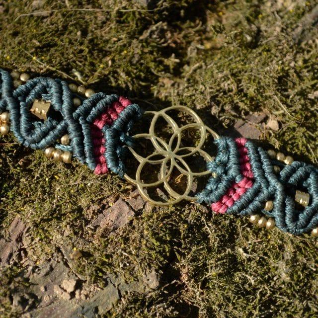 armband-blume-des-lebens-hippie-psy-blau