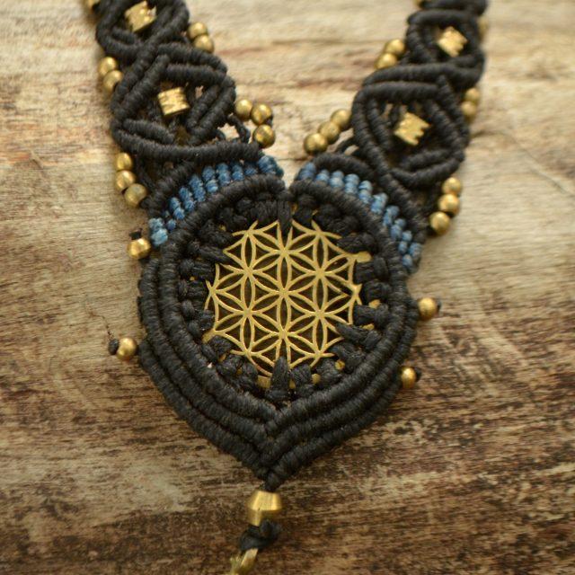 kette-flower-of-life-lebensblume-messing-yoga-symbol-schwarz