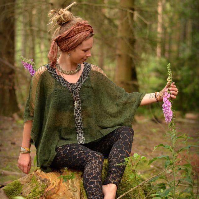 oberteil-top-poncho-gruen-hippie-goa-psy-wear