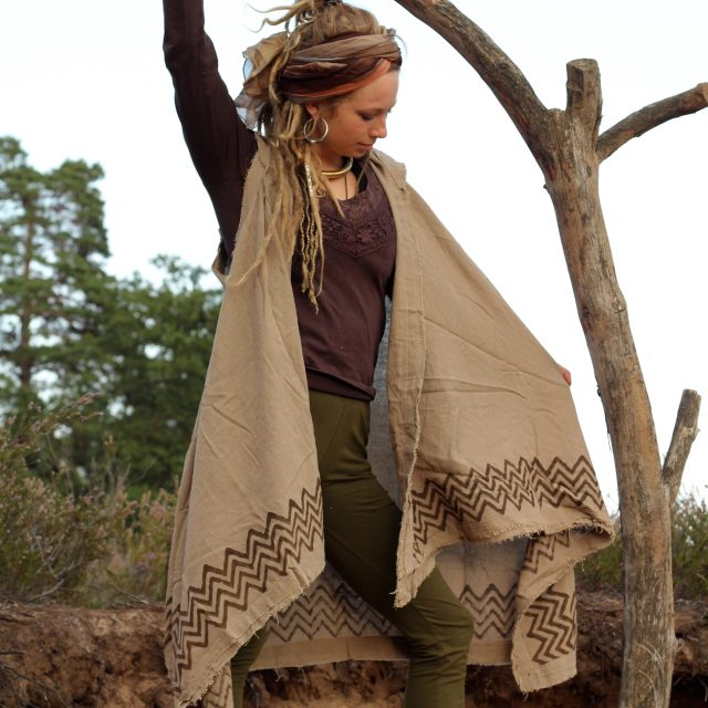 poncho-hippie-stil-beige-natural-style-blockprint