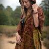 poncho-hoodie-hippie-chic-bohemian-blumen-muster-rost