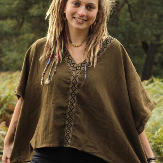 poncho-tunika-ausgestellte-arme-hippie-ethno-boho-erdfarben