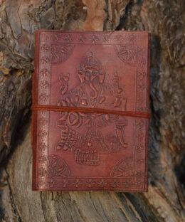 lederbuch-ganesha-yoga-journal-symbol