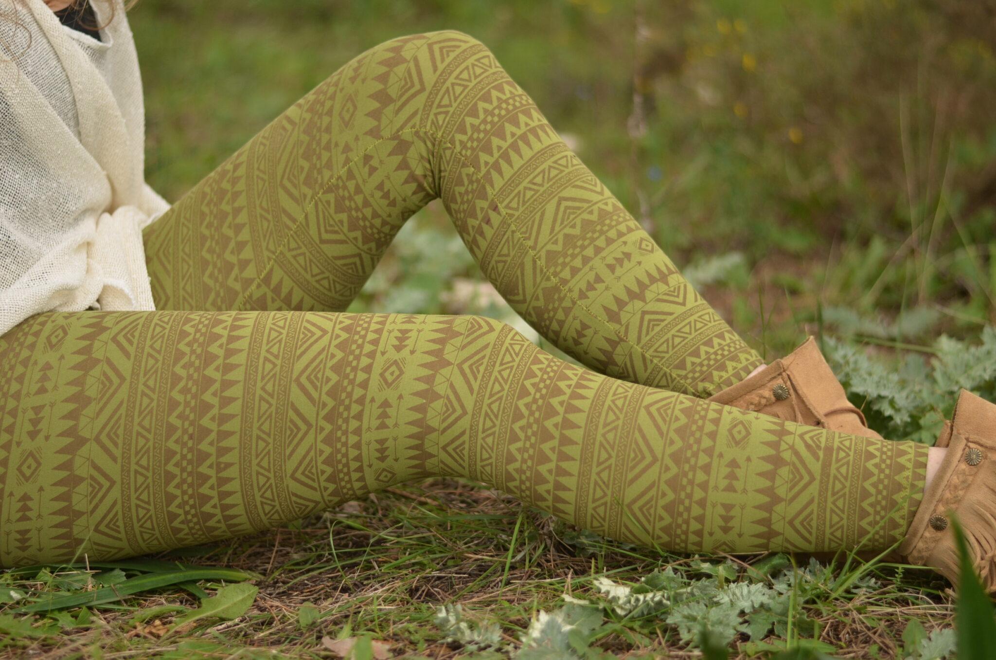 leggings-hell-gruen-gemustert-ausgefallene-leggins