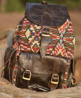 rucksack-kelim-leder-tasche